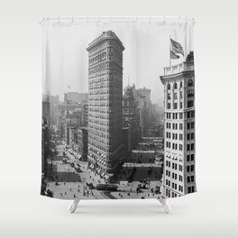 Flatiron Building - Vintage New York - 1908 Shower Curtain