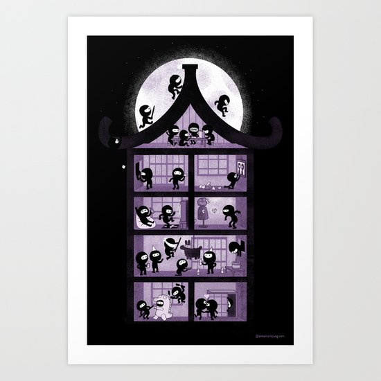 A House full of Ninjas Art Print