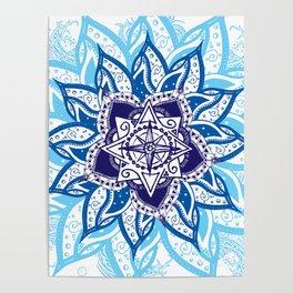 Atlantean Voyage Blue Poster