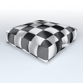 Chequered Flag Slight Ripple Outdoor Floor Cushion