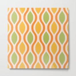 Mid Century Modern  Ogee Pattern 748 Metal Print
