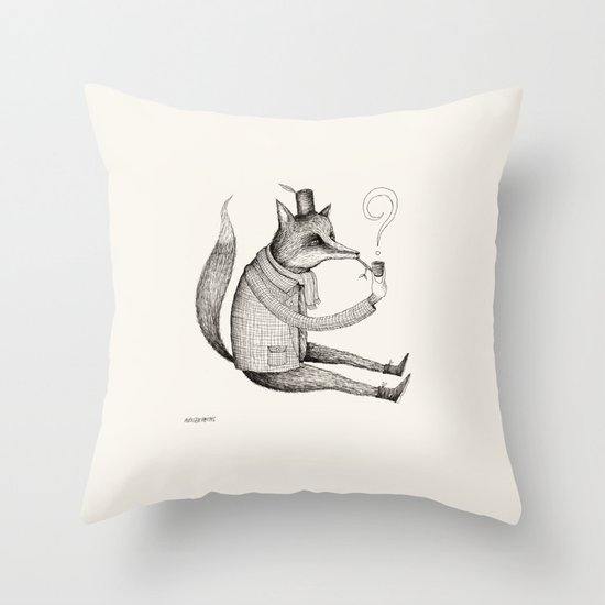 'Theories' Character Throw Pillow