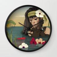 sad Wall Clocks featuring Sad by ANVIK