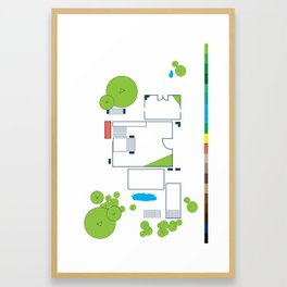 Layout #2 Framed Art Print
