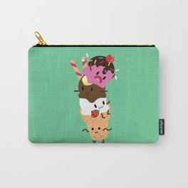 Neapolitan Ice Cream Carry-All Pouch