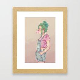 Bubbly Lady Framed Art Print