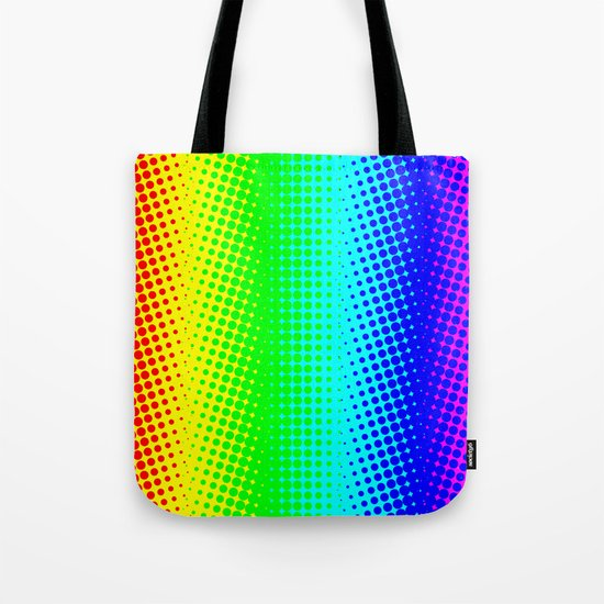 RAINBOW COLOR DOT Tote Bag