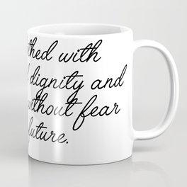 she is clothed Coffee Mug