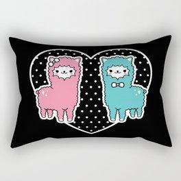Alpaca Pair Rectangular Pillow