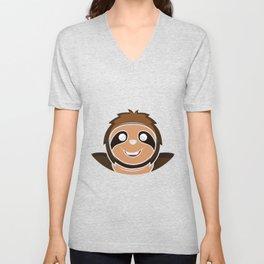 Smile Funny Cute Gift Unisex V-Neck