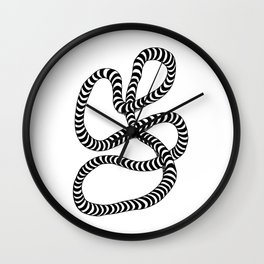 Striped Lump of Rope Wall Clock