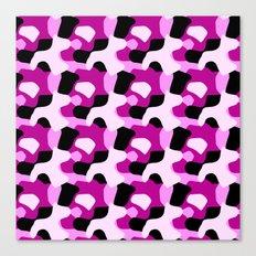 Pink Camo Pattern Canvas Print