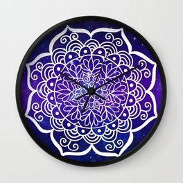 Galaxy Mandala Wall Clock