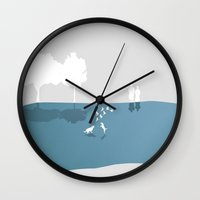 fitzgerald Wall Clocks featuring The Museum of Arrested Motion by Emma Fitzgerald