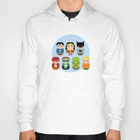 justice league Hoodies featuring Pixel Art - Justice League of America parody by Cloudsfactory