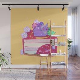 Berry Kitty Cake Wall Mural