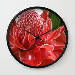Laos Flower Wall Clock