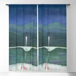 True Romance - Moonlight Dance by the Dogwood Trees portrait by Marguerite Blasinggame Blackout Curtain