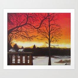 Home of Beautiful Sunsets Art Print