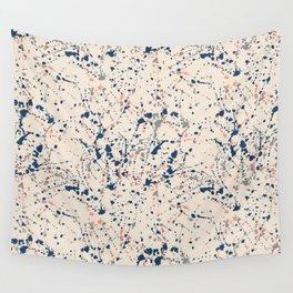 Cream Splatter Wall Tapestry