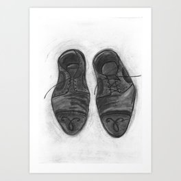 saddle oxford shoes Art Print