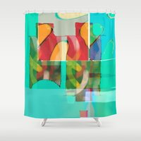 pool Shower Curtains featuring POOL by  ECOLARTE