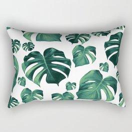 Tropical Monstera Pattern #3 #tropical #decor #art #society6 Rectangular Pillow