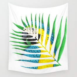 Parrot Palm Leaf Wall Tapestry