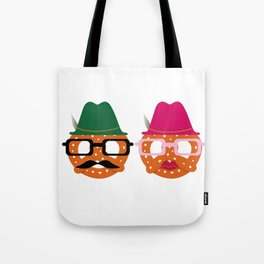Oktoberfest Pretzel Boobs Funny Tote Bag