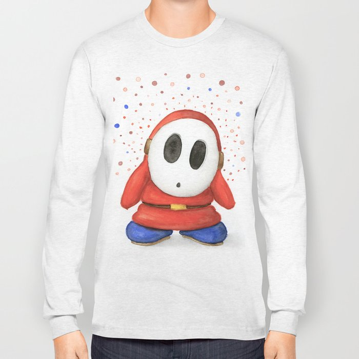 Confused Shy Guy Long Sleeve T-shirt