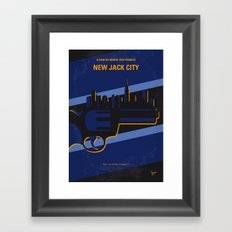 No762 My New Jack City minimal movie poster Framed Art Print