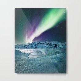 aurora in iceland Metal Print