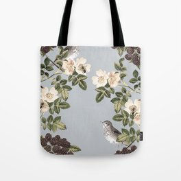 Birds and the Bees Gray Tote Bag