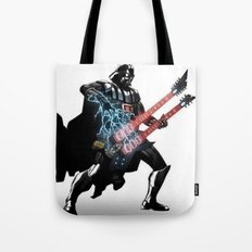 Darth Vader Force Guitar Solo Tote Bag