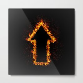 Fire Arrow up Metal Print