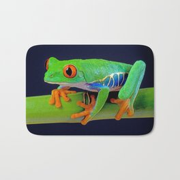 TREE FROG ON BAMBOO Bath Mat