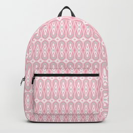 Ikat Teardrops in Pale Pink and Gray Backpack