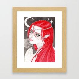 Redheaded Vampire Framed Art Print