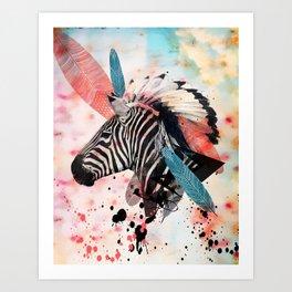Zebra Chief Art Print