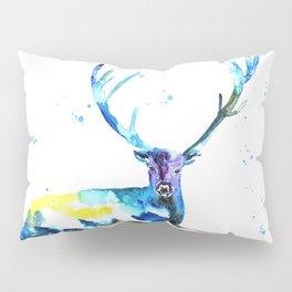 WATERCOLOR STAG PAINTING ORIGINAL Pillow Sham