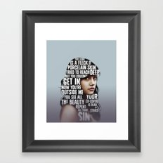 SONGS X.  Framed Art Print