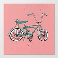 boss Canvas Prints featuring Boss. by shoooes