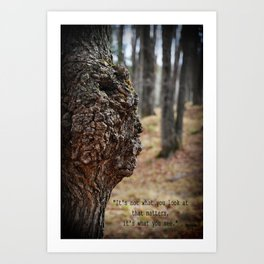 Face in Tree ~ What You See  Art Print