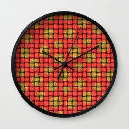 BASKETWEAVE PATTERN 2 Wall Clock