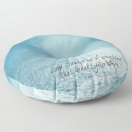 Cleanse me Psalm 139 Floor Pillow