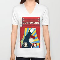 rushmore V-neck T-shirts featuring Rushmore by Bill Pyle