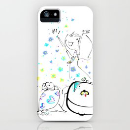 raining flowers iPhone Case