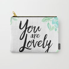You are lovely floral Carry-All Pouch