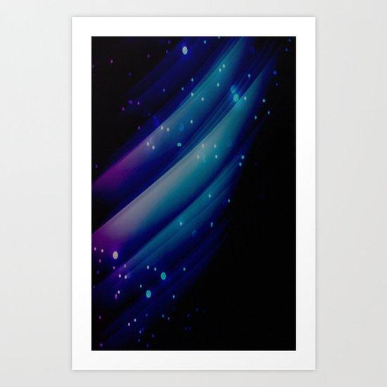 blue lights Art Print