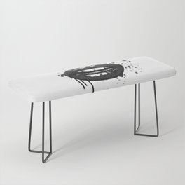 Black and white glamour fashion lips Bench